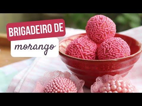 1. Receita de BRIGADEIRO DE MORANGO – Docinho Gourmet Rosa 🍓